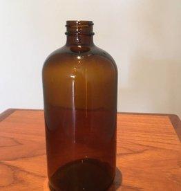 Freund Container Glass Bottle, Amber 16 oz. Round
