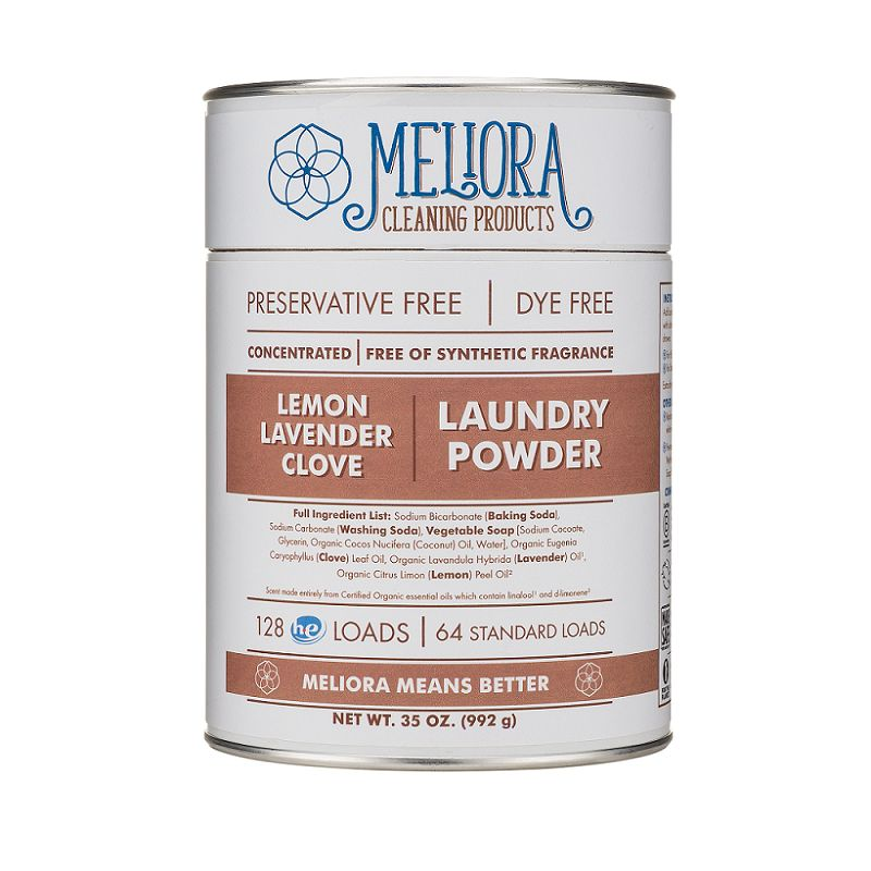 Meliora Meliora Laundry Powder, 64 Loads Lemon, Lavender, Clove - 35 oz.