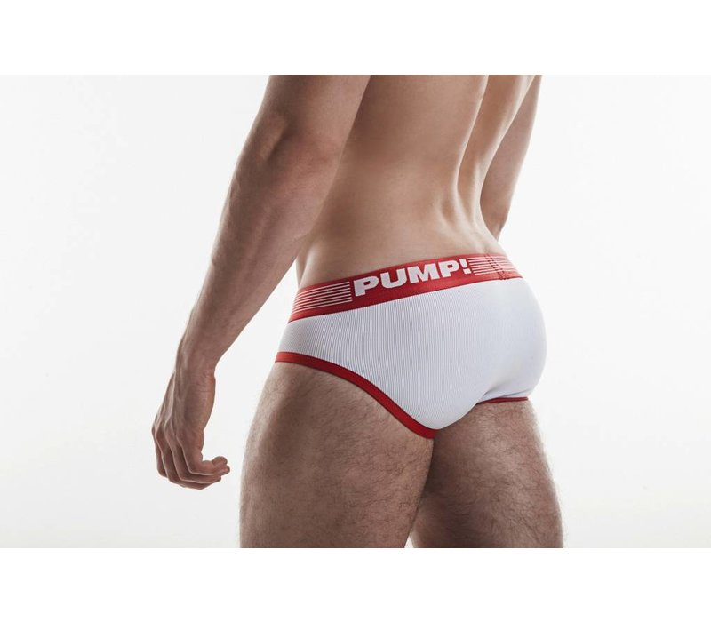 Red Ribbed Brief