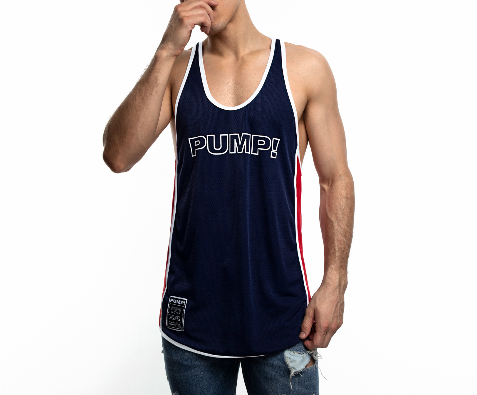 Pack of 3 Force NXT Mens Multi-Colored Pump Gym Vest
