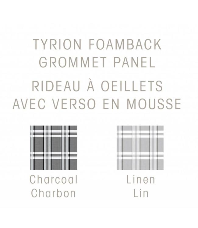 MAISON CONDELLE *TYRION FAUX SILK FOAM BACK GROMMET WINDOW PANEL