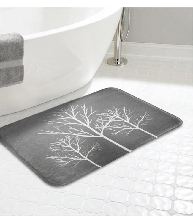 "LAUREN TAYLOR *TREES MEMORY FOAM BATHMAT AST 20X30"" (MP12)"