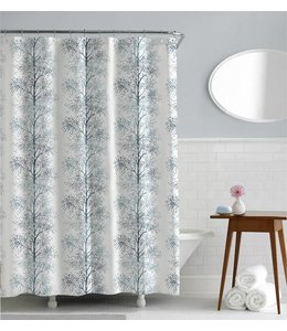 "LAUREN TAYLOR TREES SHOWER CURTAIN AST 70X72"" (MP12)"