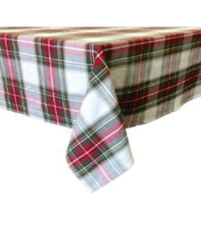 "CELEBRATION PLAID TABLECLOTH 72"" RD"" (MP1)"