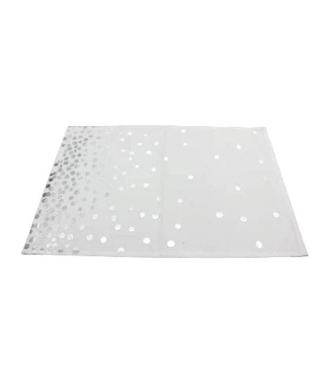 """HOLIDAY LIGHTS 4PK PLACEMAT SILVER 13X19"""""""