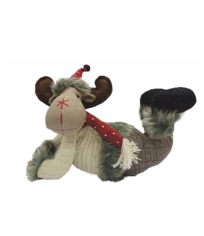 LAUREN TAYLOR PLUSH CHRISTMAS DECOR - REINDEER ON BELLY