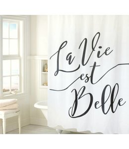 LAUREN TAYLOR LA VIE EST BELLE SHOWER CURTAIN WHITE (MP12)