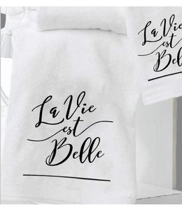 "LAUREN TAYLOR LA VIE EST BELLE 2PK HAND TOWEL WHITE 16X20"" (MP12)"