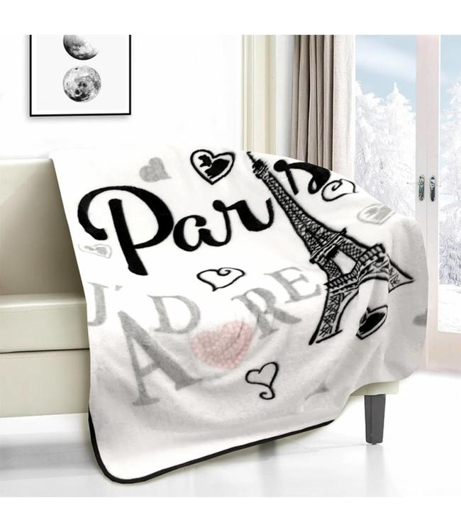 "MAISON CONDELLE *MICRO MINK THROW 50X60"" (MP3) PARIS J'ADORE"