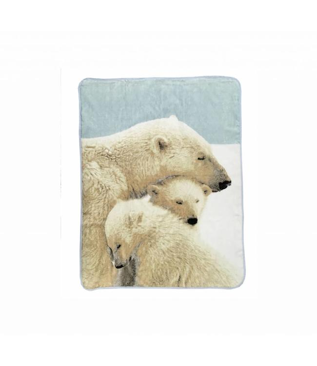 "MAISON CONDELLE MICRO MINK THROW 50X60"" (MP3) POLAR BEAR"