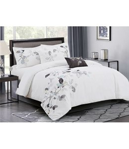 JOSEPHINE 5PC COTTON COMFORTER SET (MP3) SAGE QUEEN