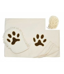 PAWS & WHISKERS *PET MITT & TOWEL SET AST (MP12)