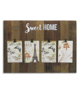 "MAISON CONDELLE SWEET HOME WOOD PHOTO CLIP BOARD 20X14"" (MP6)"