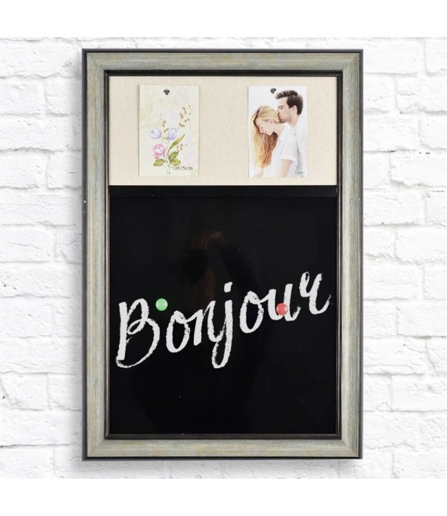 "STUDIO 707 *CORK/CHALKBOARD COMBO MESSAGE BOARD 19X27"" (MP8)"