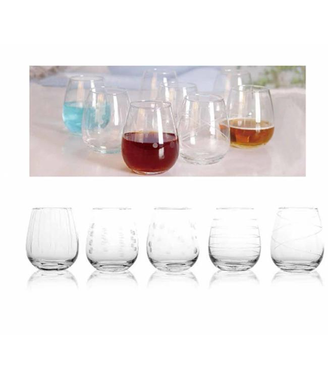 8PK EMBOSSED 14oz WHISKY GLASS (MP8)