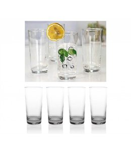 8PK CLEAR 14.38oz TALL DRINKING GLASS (MP6)