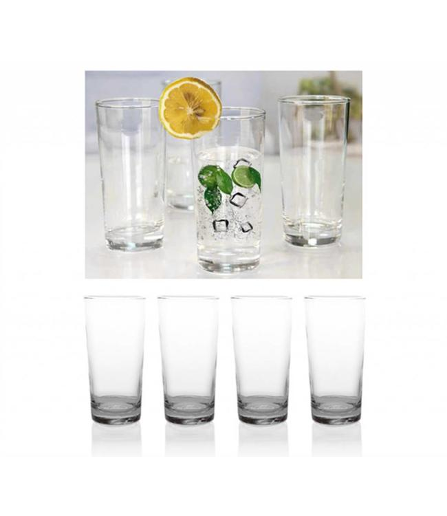 *8PK CLEAR 14.38oz TALL DRINKING GLASS (MP6)
