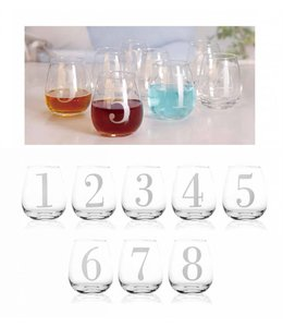 8PK NUMBERED 14oz WHISKY GLASS (MP8)