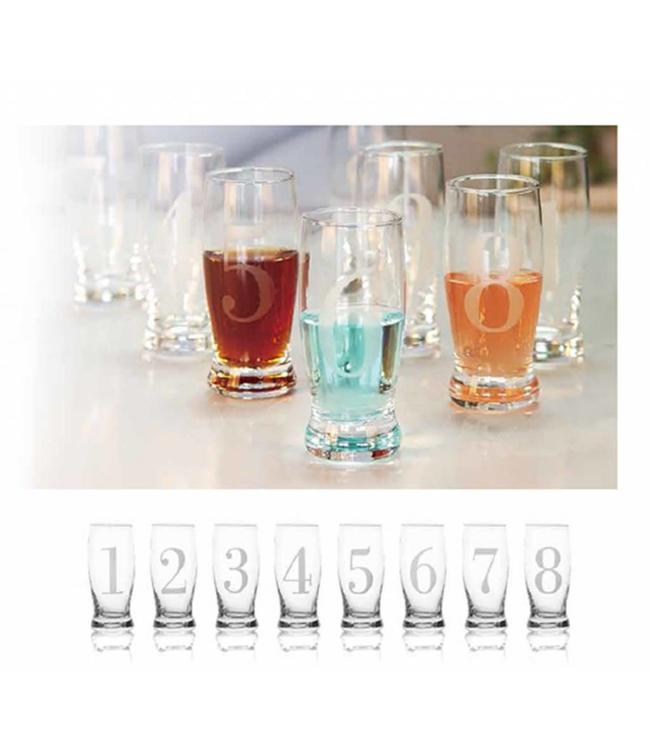 *8PK NUMBERED 4oz LIQUEUR GLASS (MP12)
