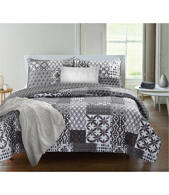 ADRIEN LEWIS *PORTAL QUILT SET GREY (MP3)