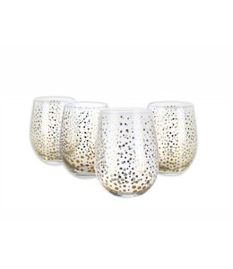 LAUREN TAYLOR *4PK SPARKLING STEMLESS DRINKING GLASS (MP8)