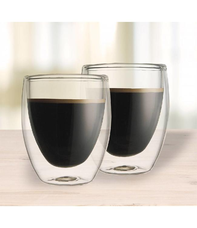 SET OF 2 DOUBLE WALL COFFEE MUG 350ml (MP6)