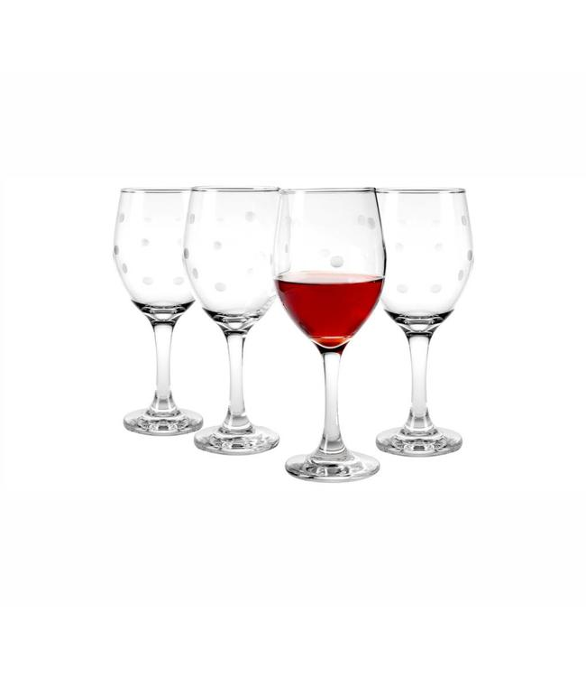 *4PK LADYBUG WINE GLASS (MP8)