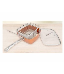 "A LA CUISINE COPPER MULTI FUNCTION DEEP PAN 16"" (MP6)"