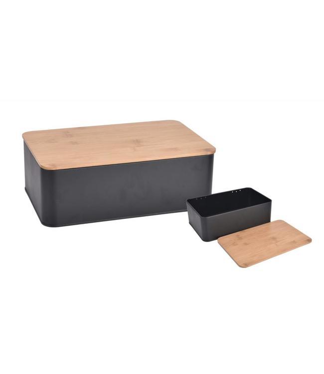 A LA CUISINE BREAD BOX WITH BAMBOO LID (MP4)