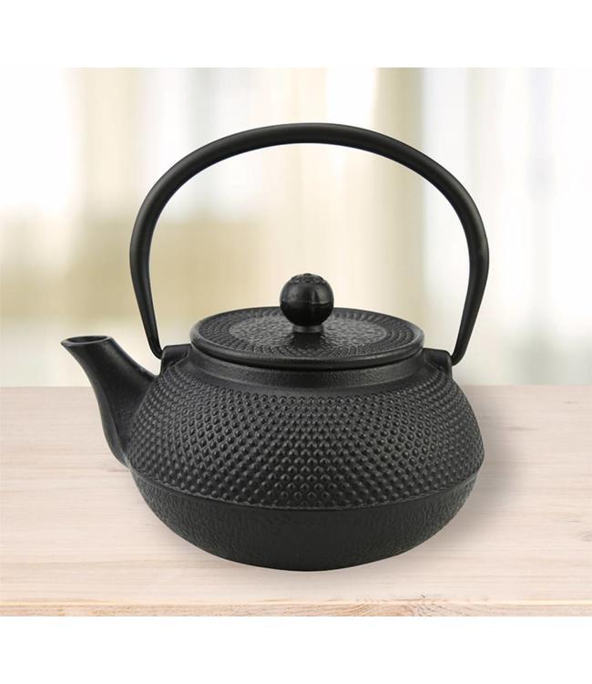 CAST IRON TEA POT BLACK 800ml (MP4)
