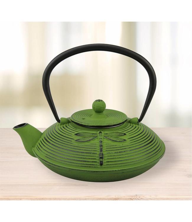 CAST IRON TEA POT GREEN 800ml (MP4)