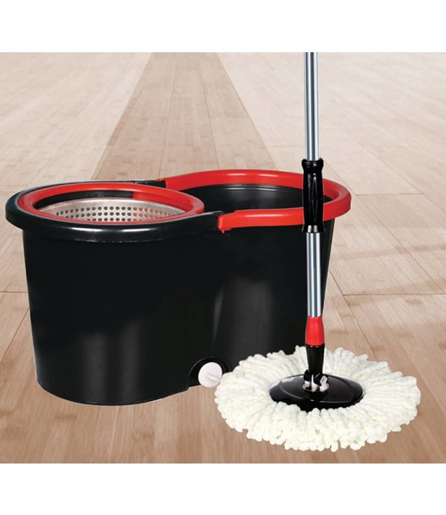 STUDIO 707 SPACE SAVER CYCLONE SPIN MOP BLACK  (MP1)