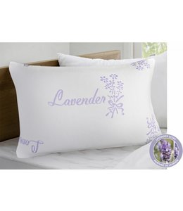 MAISON CONDELLE CANADA LOFT - LAVENDER SCENT KNIT PILLOW WHITE (MP12) QUEEN