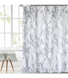 "LAUREN TAYLOR MARBLE SHOWER CURTAIN AST 70X72"" (MP12)"