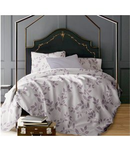 LAUREN TAYLOR JULIETTE VINES 3PC PRINTED MICRO FIBER DUVET COVER SET LAVENDER (MP4)