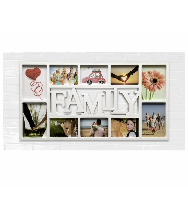 "LAUREN TAYLOR 10 PHOTO FRAME FAMILY COLLAGE 28X14"" AST (MP6)"