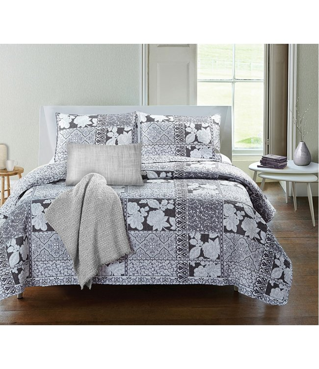 ADRIEN LEWIS *ELIANA QUILT SET GREY (MP3)