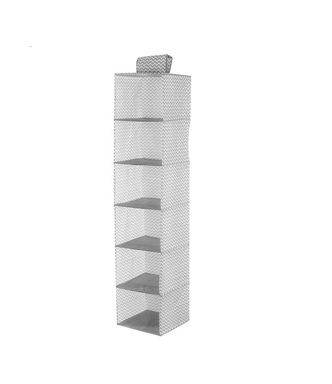 ADRIEN LEWIS 6 SHELF HANGING ORGANIZER GREY (MP12)
