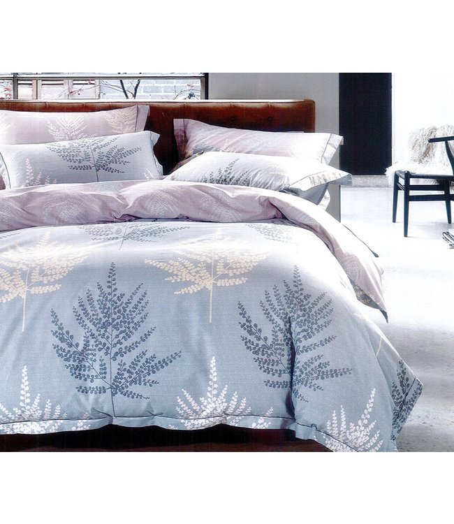 LAUREN TAYLOR KAYA 3PCS COMFORTER SET BLUE (MP2)
