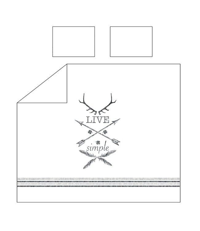 ADRIEN LEWIS LIVE SIMPLE 3PC DUVET COVER SET BLACK (MP2)