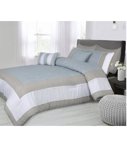 *MINA 7PC GREY/BLUE COMFORTER SET (MP2)