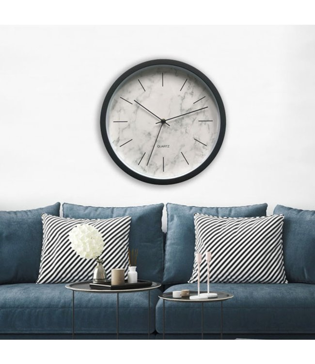 "LAUREN TAYLOR *MARBLE WALL CLOCK 12"" (MP6)"