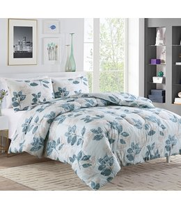 LAUREN TAYLOR LILIANA 3PCS COMFORTER SET SLATE (MP2)