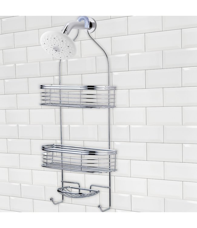 "LAUREN TAYLOR SHOWER CADDY CHROME 11X5X25"" (MP6)"