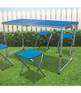 SOL DE MARE FOLDABLE CAMPING TABLE WITH 4 STOOLS (MP1)