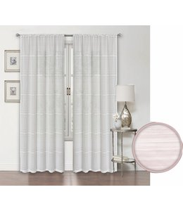 LAUREN TAYLOR SARA 2PK SEMI-SHEER POLE TOP WINDOW PANEL WHITE (MP12)