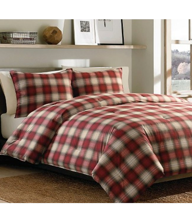 LAUREN TAYLOR GLEN 3pc COTTON FLANNEL COMFORTER SET (MP3)
