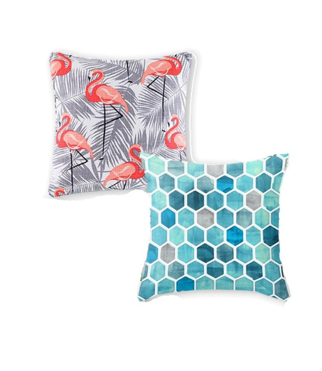 "FLAMINGO OUTDOOR CUSHION MULTI 17X17"" (MP8)"