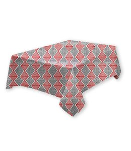 DIAMOND COLLECTION TABLECLOTH GREY/RED (MP12)