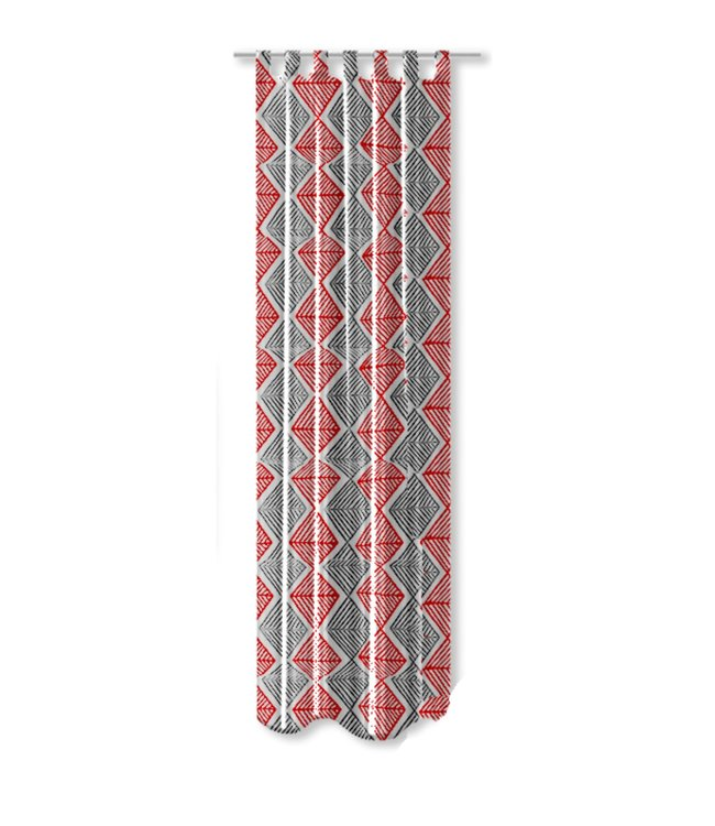 DIAMOND COLLECTION PRINTED OUTDOOR PANELS GREY/RED (MP12) 52X90""